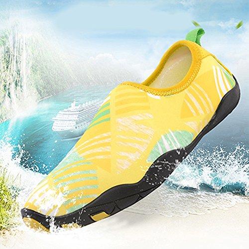Yoga Para Unisex Amarillo Leezo Secado Surf Piscina Playa Calcetines De Rápido ZzgTSq