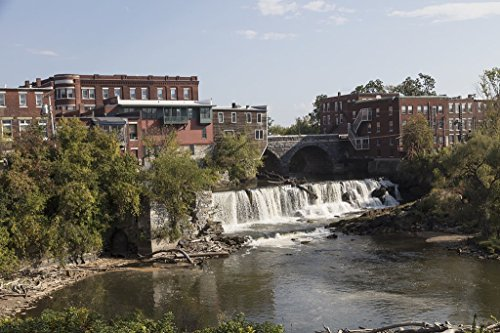 Photograph- Middlebury Falls, a waterfall on the Otter Creek in the heart of downtown Middlebury, Vermont. The falls once powered several mills in this industrial community 1 36in x 24in