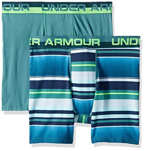 (Under Armour Boys' Big 2 Pack Sublimation Print Performance Boxer Briefs, Dust-S19)