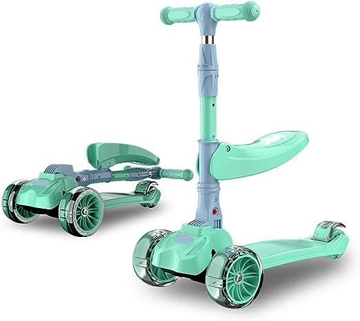 GSSDWW Scooter para Niños, Rueda Ancha PU Flash, Bicicleta De Equilibrio para Scooter 3 En 1, Plegable Rápido, Adecuada para Niños De 2 A 10 Años: Amazon.es: Hogar