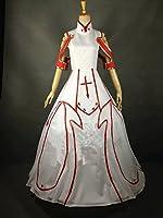 Camplayco Sword Art Online Yuuki Asuna Wedding Dress Cosplay Costume-made