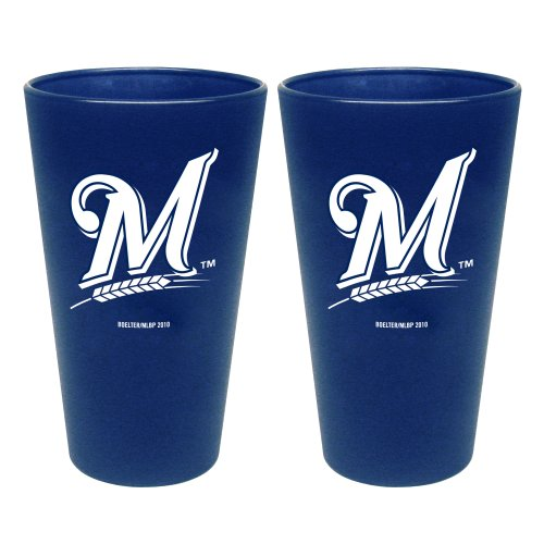 MLB Milwaukee Brewers 2 Pack Colored Frosted ()