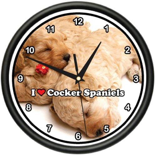 (COCKER SPANIEL Wall Clock dog puppy puppies)