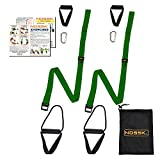 NOSSK TWIN PRO Bodyweight Fitness Strap Trainer (Olive Drab)