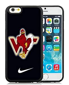 High Quality iPhone 6 4.7 Inch TPU Case ,Cool And Fantastic Designed Case With virginia tech hokie 02 Black iPhone 6 Cover