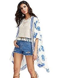 SweatyRocks - Kimono para Mujer, diseño Floral clásico
