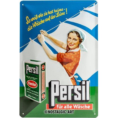 Nostalgic-Art 22247 - Targa di Latta, Motivo: pubblicità detersivo Persil, 20 x 30 cm Nostalgic Art