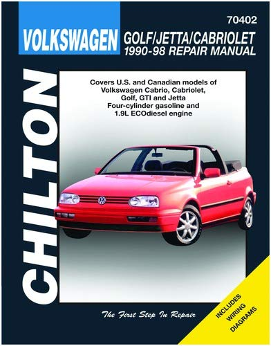 Amazon.com: Chilton Volkswagen Golf/Jetta/Cabriolet 1990-1998 Repair Manual  (70402): BooksAmazon.com