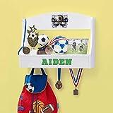 Personalized Trophy Shelf and Medal Holder (Soccer)