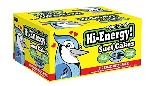 High Energy Wild Bird Blend Suet Cakes Bird Feed 10 Pack Year Round Feeding - Energy Suet Cake