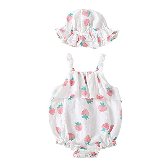 Amazon.com: Cuekondy Newborn Infant Baby Girls Cute Strawberry Print ...