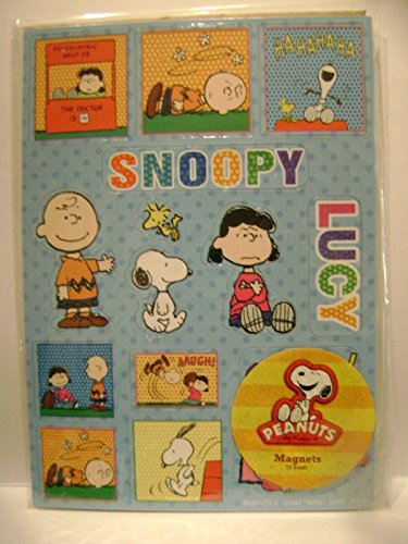 Peanuts Gang Snoopy Magnet Set with Lucy Mood Booth