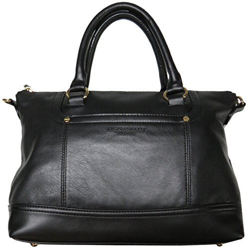 Tignanello Women's Genuine Leather Smooth Operator Shopper, Black (Leather Genuine Tignanello)