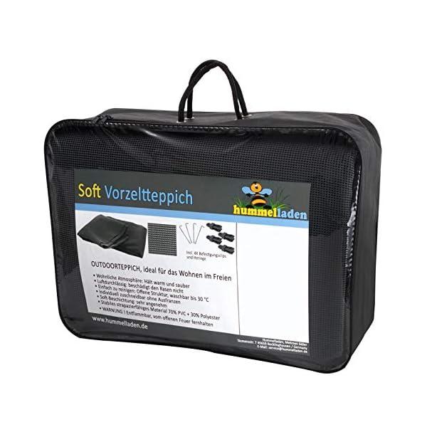 51NbJB5sfKL Vorzeltteppich Soft Breite 250/300 - ZUSCHNEIDBAR - ohne Ausfransen - formfest - weich - grau - leicht - waschbar…