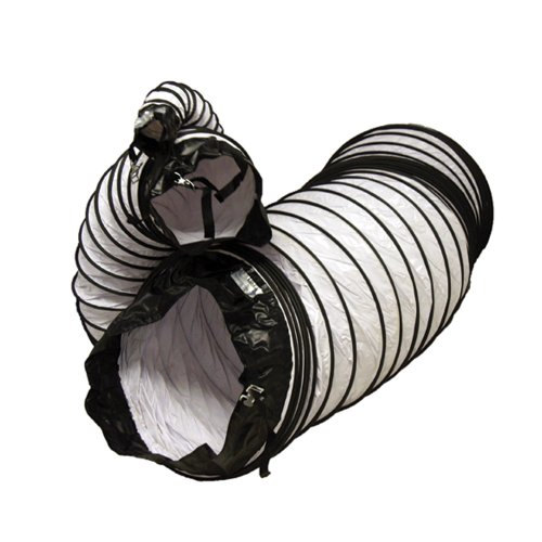 Rubber-Cal ''Air Ventilator White'' Ventilation Duct Hose (Fully Stretched), 12-Inch by 25-Feet by Rubber-Cal