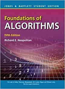 foundations of algorithms neapolitan pdf