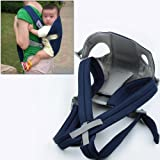 Blue Baby Carrier Sling Wrap Rider Infant Comfort Backpack