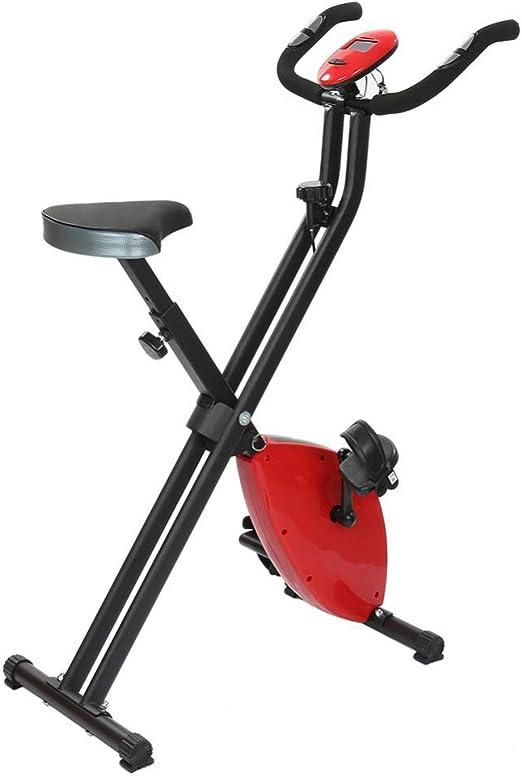 CRYPCP Bicicleta estática de Ejercicio Vertical Plegable ...