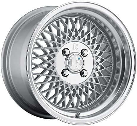 Klutch SL1 Silver Wheel with Painted 15 x 8.5 inches //4 x 100 mm, 17 mm Offset