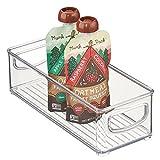 mDesign Plastic Kitchen Food Storage Bin with Handles, 3' High, Clear
