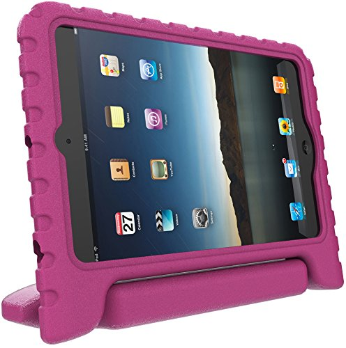 iPad Mini Case for Kids: Stalion® Safe Shockproof Protection for iPad Mini 1st 2nd 3rd & 4th Generation (Hot Pink) Ultra Lightweight + Comfort Grip Carrying Handle + Folding Stand (Hot Pink Ipad 2 Case compare prices)