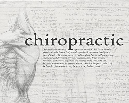 Clinic Artwork Black and White Chiropractic Definition Drawing, 16'x20' Poster, Chiropractic Art, Clinic Decor (Chiropractic Education)