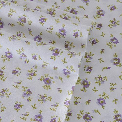 Laura Ashley 211958 Petite Fleur Sheet Set, Heather, Queen