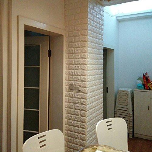 yazi creative 3d brick pe foam wall sticker self adhesive diy wallpaper 27x33 inch white 1pc
