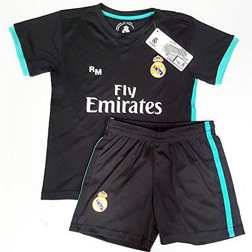 Rogers Uniforme Real Madrid réplica Oficial Junior Segunda equipación [AB3906]: Amazon.es: Deportes y aire libre