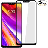 LG G7 ThinQ Screen Protector, Welmax HD Tempered Glass 5D Touch 9H Hardness Full Cover No Bubbles Anti-Fingerprint Screen Protector for LG G7 ThinQ [2 Pack]