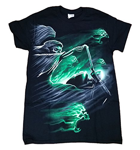 Grim Reaper on Motorcycle Graphic T-Shirt - Medium