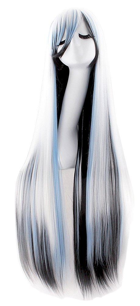 Super Long 100CM Full Wigs Cosplay Costume Halloween Hair Anime Wavy Straight