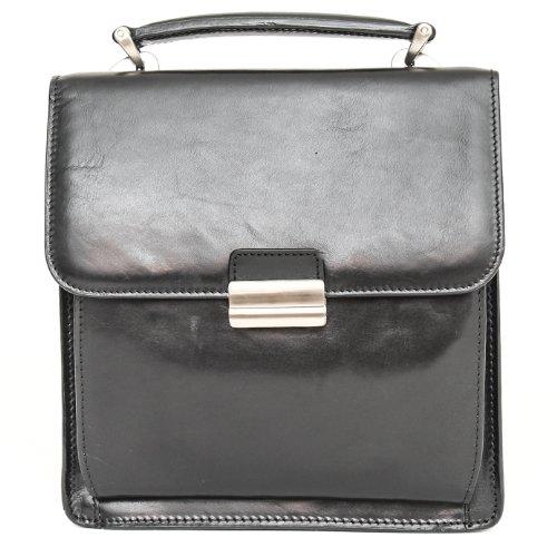 Italico Capri Carry Leather Briefcase Color: Black
