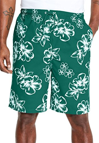 Kingsize Mens Hibiscus Print Trunks