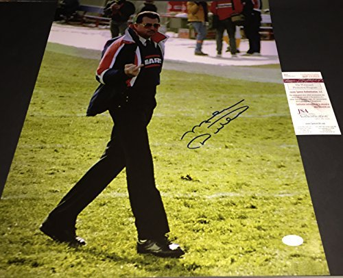 Mike Ditka Chicago Bears Signed Autographed 16x20 Finger Photo JSA WITNESS COA