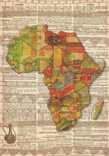 African Map Dictionary Art Notebook with African Proverbs and Inspirational Quotes (7 x 10 Inches): A Classic 7 x 10 Inch Ruled/Lined Composition ... Journals and Other Gifts for Women and Men)