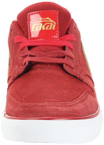 Lakai CARROLL 5 MS3120015A00 - Zapatillas fashion de ante para hombre Rojo (DARK RED SUEDE A0620)