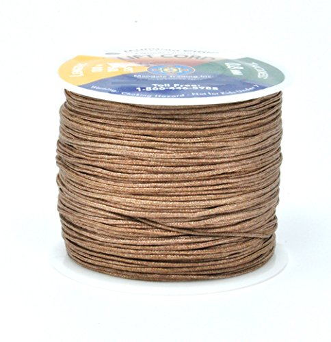 Mandala Crafts Braided Nylon Lift Cord, Venetian and Roller Blinds Replacement String for Rvs, Windows, Roman Shade Repair (0.8mm, (Pleated Shade Cord)