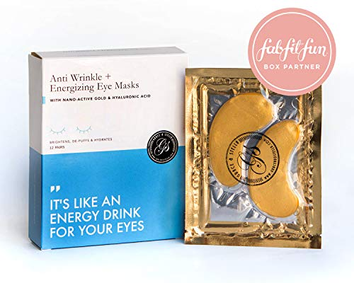 Grace & Stella Anti-Wrinkle + Energizing Gold Collagen Eye Masks | Depuffing Undereye Patches | Vegan & All-Natural (12 Pairs) -