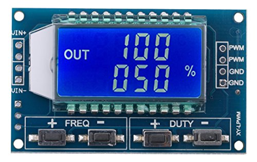 Yeeco LCD 1Hz-150kHz PWM Frequency Meter Tester 0-100% Adujustable Duty Ratio Square Rectangular Wave Pules Signal Generator Module Board