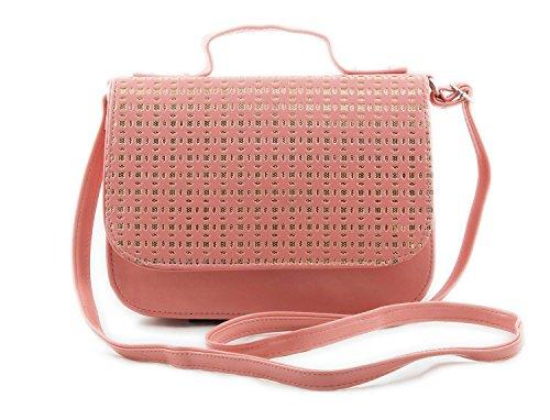 Voaka Women's Sling Bag (Peach,Boxsling)