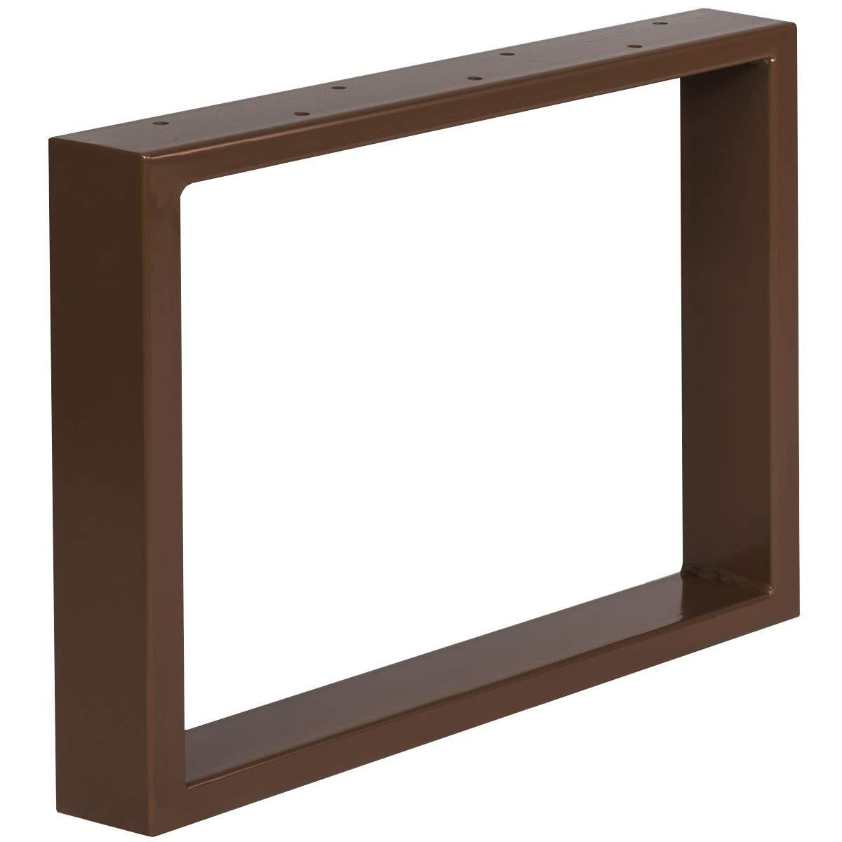 Acier Brut Cadre 30x43 cm HOLZBRINK 1x Pied de Table en Profil/és dAcier 80x20 mm HLT-01-C-AA-0000