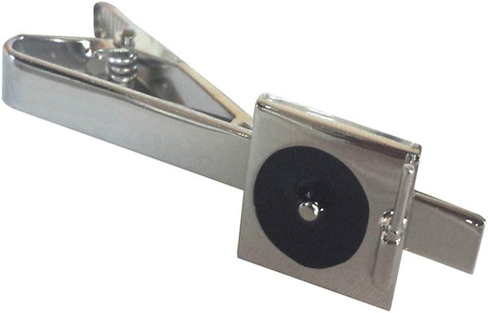 Procuffs Dj Turntable Music Record Tie Clip Black Wedding Bar Clasp