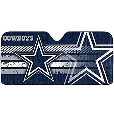 1 pc NFL Dallas Cowboys Blue White Star Reflective Aluminum Sun Shade Universal: Automotive