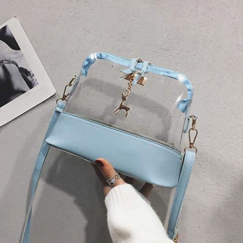Mano Bolsa Colgante Azul Mochila Bandolera Bolso Familizo Leonado Transparente Mujer Bolsos De HOfA06vqY