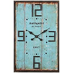 Uttermost 06425 6425 Antiquite Distressed Wall Clock, Blue