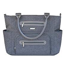 JJ Cole Caprice Diaper Bag, Gray Heather