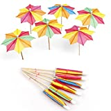 4 Inch Umbrella Picks for Drinks, Cocktail Drink Umbrellas, Hawaiian Party and Pool Party Supplies, Umbrella Parasol Cocktail Picks, Cupcake Toppers, Assorted Colors, Box of 144