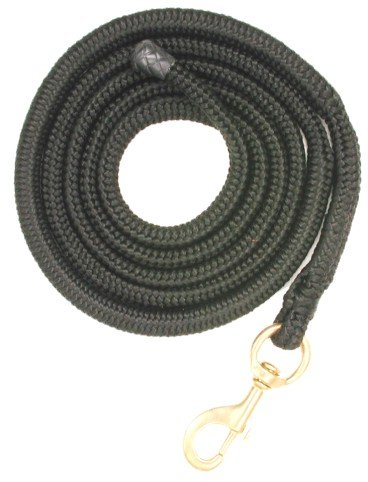 Black 5 8\ Black 5 8\ Tough-1 Safety Shock Poly Bungee Lead Rope