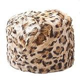 Women's Leopard Print Faux Fur Cossack Style Russian Hat